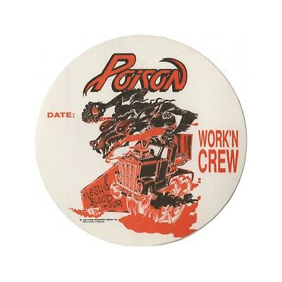 Poison Authentic 1990 Flesh & Blood tour Satin Backstage Pass Crew