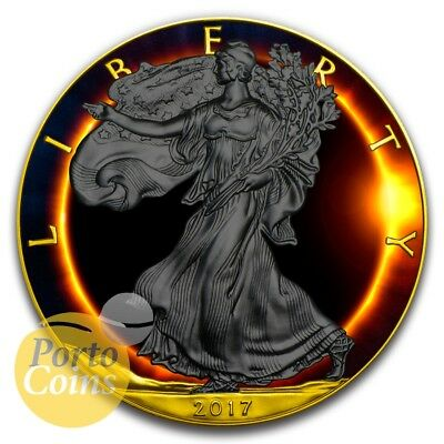 2017 1 oz Silver Eagle Walking LibertyTotal Eclipse of the Sun NEW