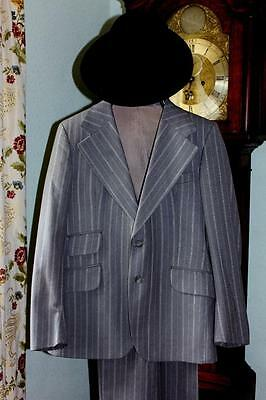 Retro Two  Piece Suit From Burton's Wide Lapels And Wide Leg Trousers.