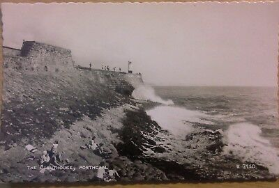The Lighthouse Porthcawl vintage postcard Valentine used unposted
