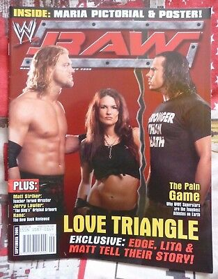 WWE Raw Magazine  Edge Lita & Matt Hardy  The Love Triangle – September 2005