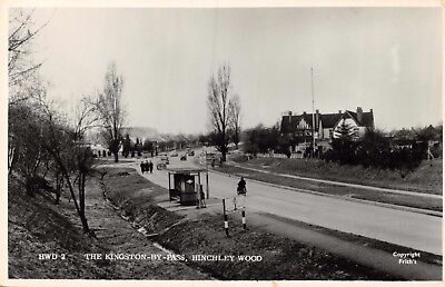Surrey Hinchley Wood The Kingston-By-Pass Road A3 Bus Stop Motorbike Photo Card