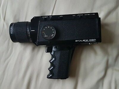 Vintage Bolex 480 Macrozoom Super 8 Movie camera.
