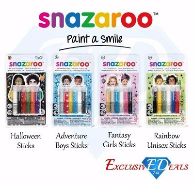 Snazaroo Face & Body Paint Sticks Halloween Boys Girls Unisex Paint Fancy Dress