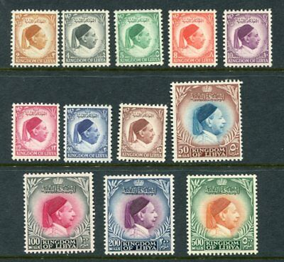 LIBYA 1952 KING IDRIS MNH Unused (5m) Set to 500m 12 Stamps