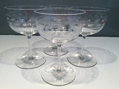 Pall Mall Champagne Saucers set of 4