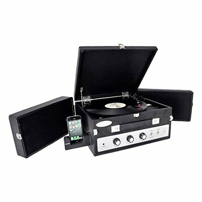 Bluetooth Turntable Vintage Classic Style Record Player Vinyl-To-MP3 Recording