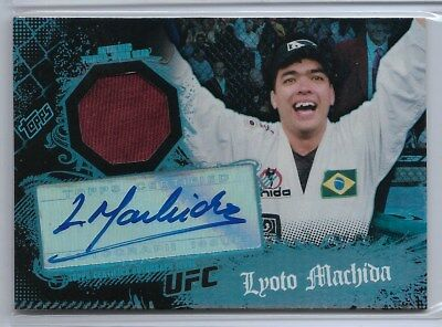 LYOTO MACHIDA Signed 2010 MAIN EVENT UFC AUTO (2-Color) RELIC Signature GEM MINT