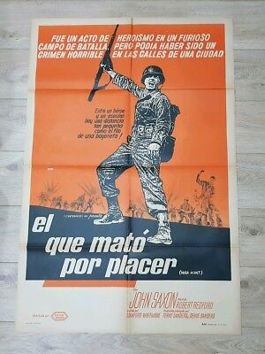 WAR HUNT (1962) Original vintage film / movie poster ARGENTINIAN ORIGINAL