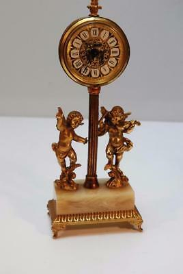 Novelty Figural Lamp post timepiece Mantel Clock with Alarm
