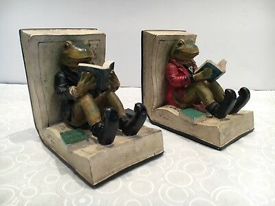 Frog and Toad Friends Reading Bookends  For Children's Library Book  📚
