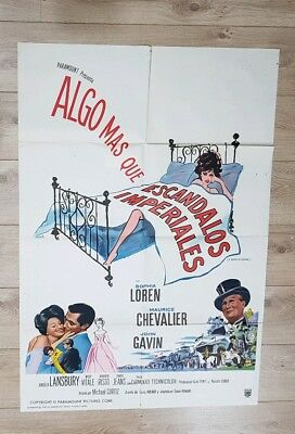 A Breathe of Scandal (1960) Original Argentinian film poster - Very Rare