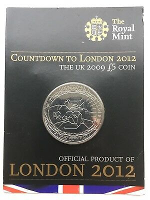 2009 £5 Five Pound Coin Uncirculated Countdown to London 2012 Olympic Games