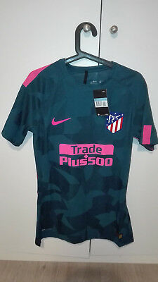 Camiseta Shirt Atletico Madrid Player Issue Match Un Worn 17/18 3Away L Shortsle
