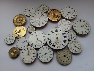 A Mixed Mechanical Pocket Watch Movement For Parts Thomas Russell& Son Etc