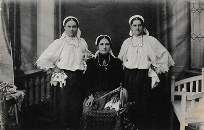 Original Bosnian Catholic Women Photo Postcard