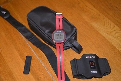 Polar RCX5 Red with GPS ,CASE, Used about 5 hours