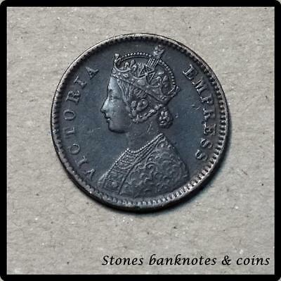 India 1/12 Anna Coin~1877 Victoria Empress~Copper 2g~KM#483~VF~#335-7