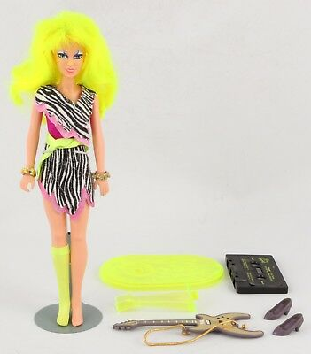 Hasbro Vintage JEM and the Holograms PIZZAZZ Misfits doll parts accessories 1986