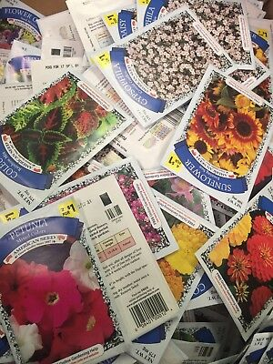 Lot Of 25 Various Flower Seed Packets