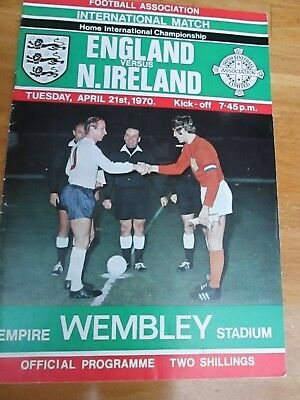 England v Northern Ireland - British Championship- at Wembley - 1970