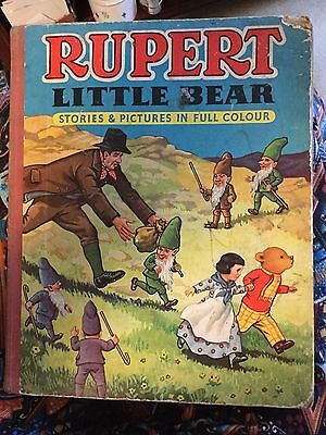 Vintage Rupert Little Bear Book. 4 stories in rhyme. Published by Purnell & Sons
