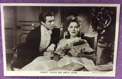 Robert Taylor. & Grata Garbo  Film Partners  Real Photo Postcard No P209