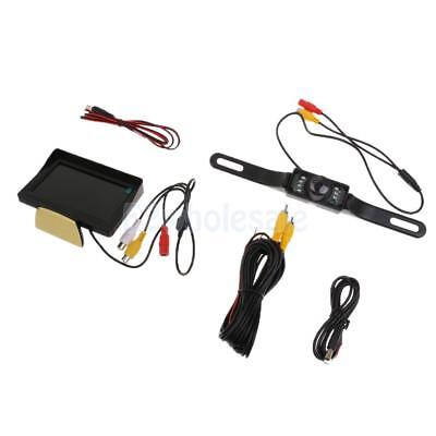 "Car Backup Camera Rear View System Night Vision + 4.3"" TFT LCD Monitor"
