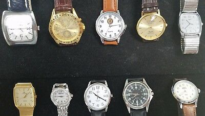 Lot of 10 Watches - Lucerne, Lorus, Indiglo, EDS, Milagro, Timex ++  Lot AA