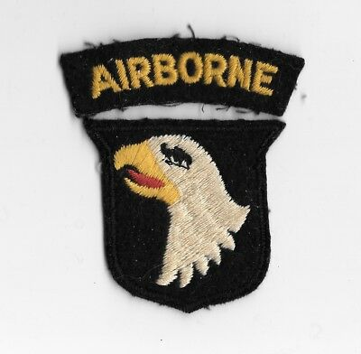 WW2 101st Airborne PATCH - BRITISH MADE - FELT Original - Paratrooper