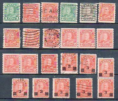 CANADA  Group of 23 Fine Used Coil & Overprints  No Hidden Faults Nice and sound