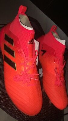Brand New Adidas Ace 17.1 KnitFG Boot - Size 8 - Solorange/black -RRP 220