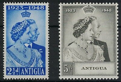 Antigua, 1948 Royal Silver Wedding Set, U/m.