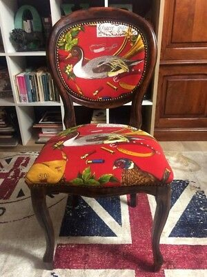 Vintage baloon chair with new fabric