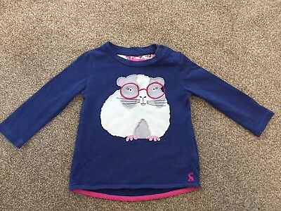 Joules Hamster Long Sleeved Top 9-12 Months