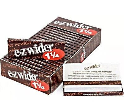 EZ-WIDER 1 1/4 Rolling Papers 24 Booklets. New In Box. FREE SHIPPING. EZ WIDER.