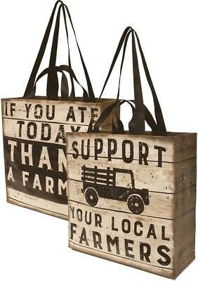 Primitives by Kathy Support Your Local Farmers Reusable Market Tote Bag