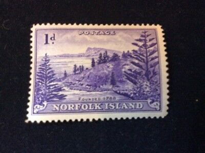 NORFOLK ISLAND 1959 One  Pence Mint Condition