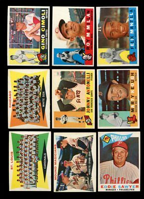 1960 Topps Baseball Lot Of 15 Different Exmt *69534
