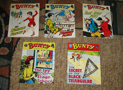 Bunty Picture Library 5 Issues Nos 31-35 from 1965 and 1966 (Like Mandy and Judy