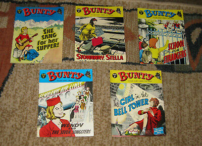 Bunty Picture Library 5 Issues Nos 41-45 from 1966 and 1967 (Like Mandy and Judy