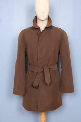 Superb Mens BURBERRY Single Breasted Short TRENCH Coat Mac Brown Size 40/42