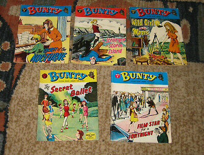 Bunty Picture Library 5 Issues Nos 51-55 from 1967 (Like Mandy and Judy)