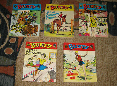 Bunty Picture Library 5 Issues Nos 56-60 from 1967 and 1968 (Like Mandy and Judy