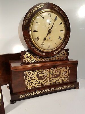 Regency Rosewood Drum Head Single Fusee Bracket Clock and Bracket Webster London