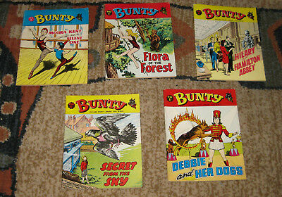 Bunty Picture Library 5 Issues Nos 61-65 from 1968 (Like Mandy and Judy)