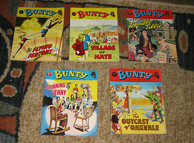 Bunty Picture Library 5 Issues Nos 66-70 from 1968 and 1969 (Like Mandy and Judy
