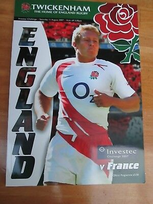 England v France  - Friendly Rugby Match - played at Twickenham - 2007