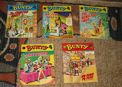 Bunty Picture Library 5 Issues Nos 81-85 from 1970 (Like Mandy and Judy)