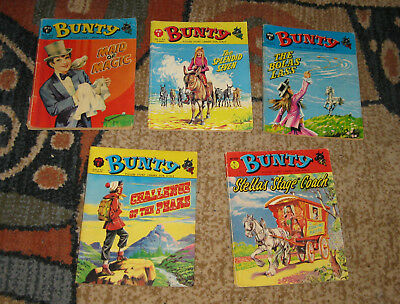 Bunty Picture Library 5 Issues Nos 86-90 from 1970 (Like Mandy and Judy)